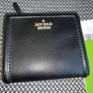 Kate Spade Black Leather SHAWN Wallet NEW
